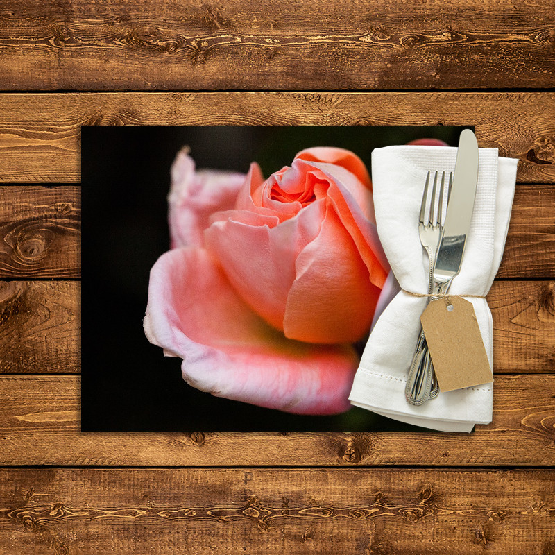 Set de table personnalis rose rose 2 fabulhouse kitchen - Set de table personnalise ...