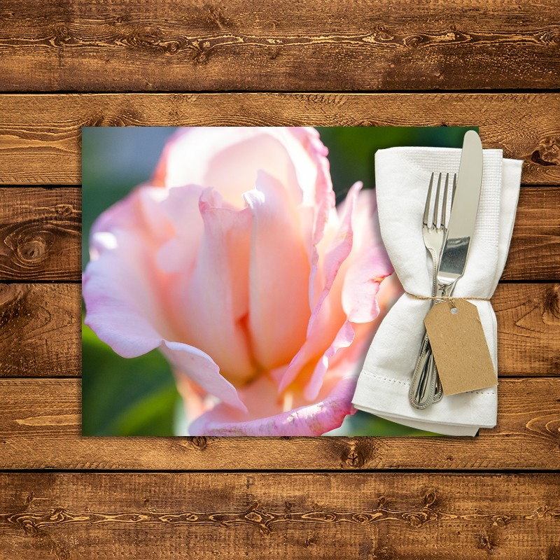 Set de table personnalis rose laetitia casta 1 fabulhouse kitchen - Set de table personnalise ...