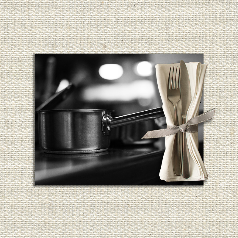 Set de table personnalis casserole fabulhouse kitchen - Set de table personnalise ...