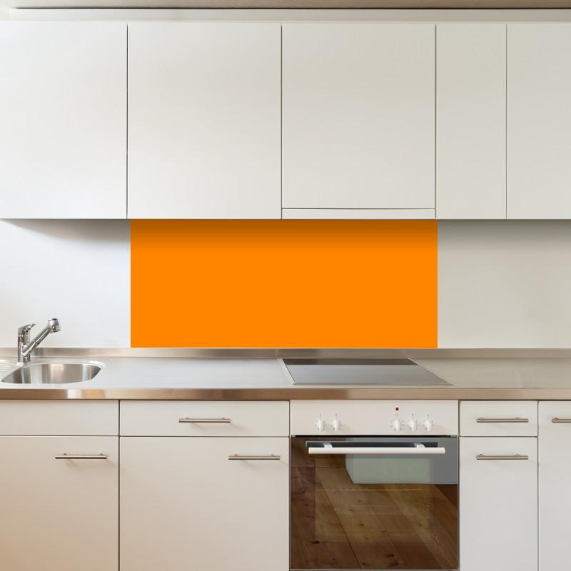 Cr dence orange fabulhouse kitchen - Credence cuisine orange ...